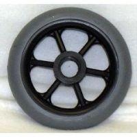 """6 Spoke Molded Tire Wheel - 5 x 1"""" - Each"""