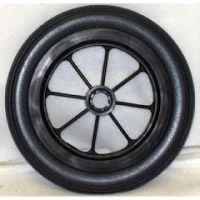 """8 Spoke Urethane Round Wheel - 8 x 1 1/4"""" - 1 pair"""