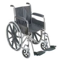 """DMI 18"""" Wheelchair with Fixed Armrests - Box of 1"""