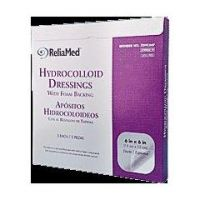 """ReliaMed Hydrocolloid Dressing with Foam Back - 4"""" x 4"""" - Box of 5"""