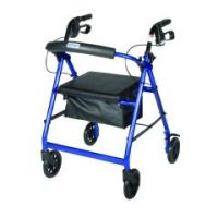 """Drive Aluminum Rollator Walker with 6"""" Wheels & Padded Seat"""