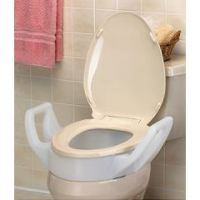 Mabis DMI Toilet Seat Riser with Arms - For Elongated Toilet Seats