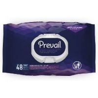 """Prevail Premium Quilted Washcloths with Lotion - Soft Pack Press Open Lid, 12"""" x 8"""""""