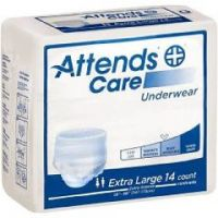 """Attends Care Absorbent Underwear - Xlarge, 58"""" to 68"""" - Bag of 25"""