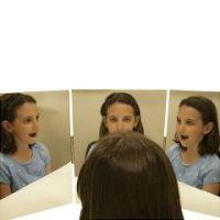 Glassless Mirror, Triple Panel, 3 12 X 16 Inch Panels - Glassless Mirror, Triple Panel, 3 12 X 16 Inch Panels