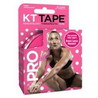 """KT Tape® Breast Cancer Awareness Pink Polka Dot Synthetic Kinesiology Tape, 2"""" x 10"""" - Pink Polka Dot - Box of 20"""