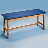 "Upholstered Treatment Tables Standard H-Brace Treatment Table 72""L x 30""W x 31""H Oak Brown - Each"