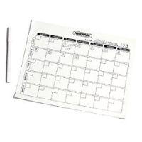Write-On/Wipe-Off Generic Calendar - Each