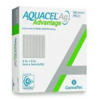 "AQUACEL® Ag Advantage Enhanced Hydrofiber Dressing with Silver 2x2"" - 2"" X 2"", Square"
