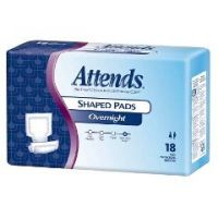 Attends Overnight Shaped Pads - Case of 72