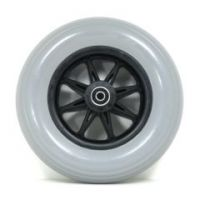 """8"""" x 2"""" Caster Wheels With molded-on Tires and B12 Bearings Pair - 1 pair"""