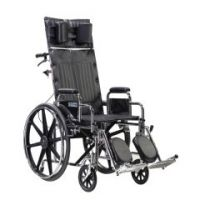 """Sentra Reclining Wheelchair, 22"""" Wheelchair with Detachable Desk Arms - 22"""" Wheelchair with Detachable Desk Arms"""