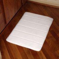 Small Cushion Bath Mat - White