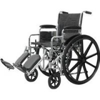 "Heavy Duty Wheelchairs - 24"" W X 18"" D, Elevating Legrests, 54 Lbs."
