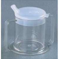 2-Handled Clear Cup with Two Lids - Each