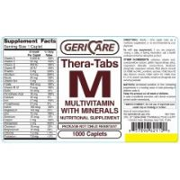 Gericare Theratabs M Multivitamin Supplement with Minerals Caplets