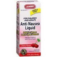 Leader Anti-nausea Liquid 4 oz. - Cherry - Box of 1