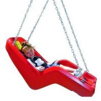 Jennswing Swing Seat - Children's Pediatric Swing Seat(8 Feet Chain) - 8 Ft Chain - Red
