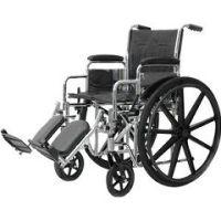 "Standard DX Wheelchairs - 18"" W X 16"" D, Fixed Arm, Swingaway Footrest, 39 Lbs."