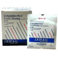 """COVADERM PLUS V.A.D. Island Dressing - overall 4 x 4"""", pad 2 x 2"""" - Box of 25"""