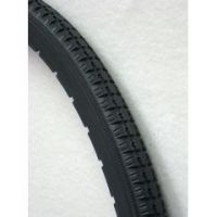 Dark Grey Urethane Snap-on Street Tire 24x1 Fits Most - 1 pair
