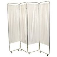 King Size 3-Panel Privacy Screen With Casters