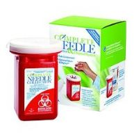 Complete Sharps Needle Collection and Disposal System - Case of 12
