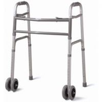 """Deluxe Bariatric Walker with Dual 5"""" Wheels - Case of 1"""