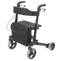 HealthSmart Gateway Rollator Walker - Ultra-Lightweight - Black - Box of 1
