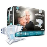 Attends® Premier Incontinence Briefs - Premium Overnight Protection