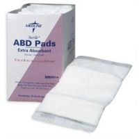 "Abdominal ABD Pads - 5"" x 9"" - Box of 25"