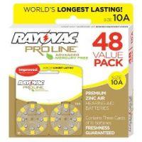 Rayovac Proline Advanced Mercury-Free Hearing Aid Batteries 48/Box Size 10 - Rayovac Proline Advanced Mercury-Free Hearing Aid Batteries 48/Box Size 10