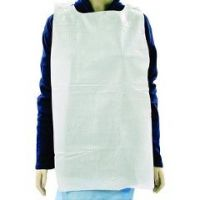 Disposable Paper-Poly Lap Bib 16X33 Overhead Style - Case of 300
