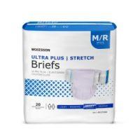 McKesson Ultra Plus Stretch Adult Heavy-Absorbent Incontinence Brief, Medium, Lavender