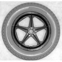 """12 1/2"""" x 2 1/4"""" Rear Mag Wheels with Urethane Tires - 1 pair"""