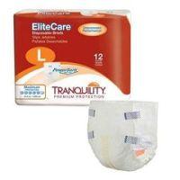 """Tranquility® EliteCare™ Disposable Brief - Medium 32"""" - 44"""" - Pack of 12"""