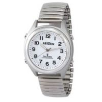 Reizen Atomic Talking Watch - White Face with Black Numbers