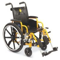 """Kidz Pediatric Wheelchair - 14"""" , Desk Length Arms , New Elevated Foot Rests"""