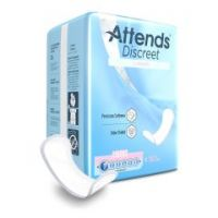 Attends Discreet Adult Disposable Bladder Control Pad Light Absorbency - 6 Inch Length, White - Bag of 28