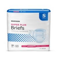 McKesson Super Plus Adult Moderate-Absorbent Incontinent Brief, Small