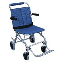 Aluminum Folding Transport Wheelchair with Carry Bag - Each