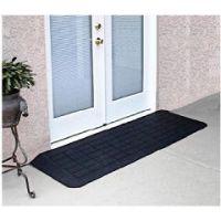 Rubber Threshold Ramp for Doorways - Slate Transition