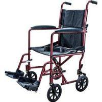 Lightweight Aluminum Transport Chair - Black