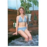 Dipsters Patient Wear, Women's Halter-Top Bikini