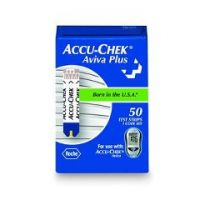 Accu Chek Plus Aviva Blood Glucose Test Strips  - Box of 50