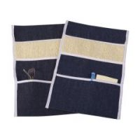 DMI Wheelchair Arm Pads Armrest Covers with Storage Pouch, Denim - 2 pairs