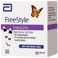 FreeStyle InsuLinx Blood Glucose Test Strips - Box of 50