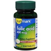 Sunmark Folic Acid Tablet - Bottle of 1