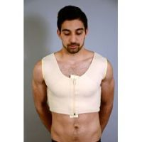 Zippered Male Gynecomastia Vest