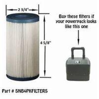 SNB4PKFILTER 4 Pack Filter For Older Spa-in-a-Box - Each